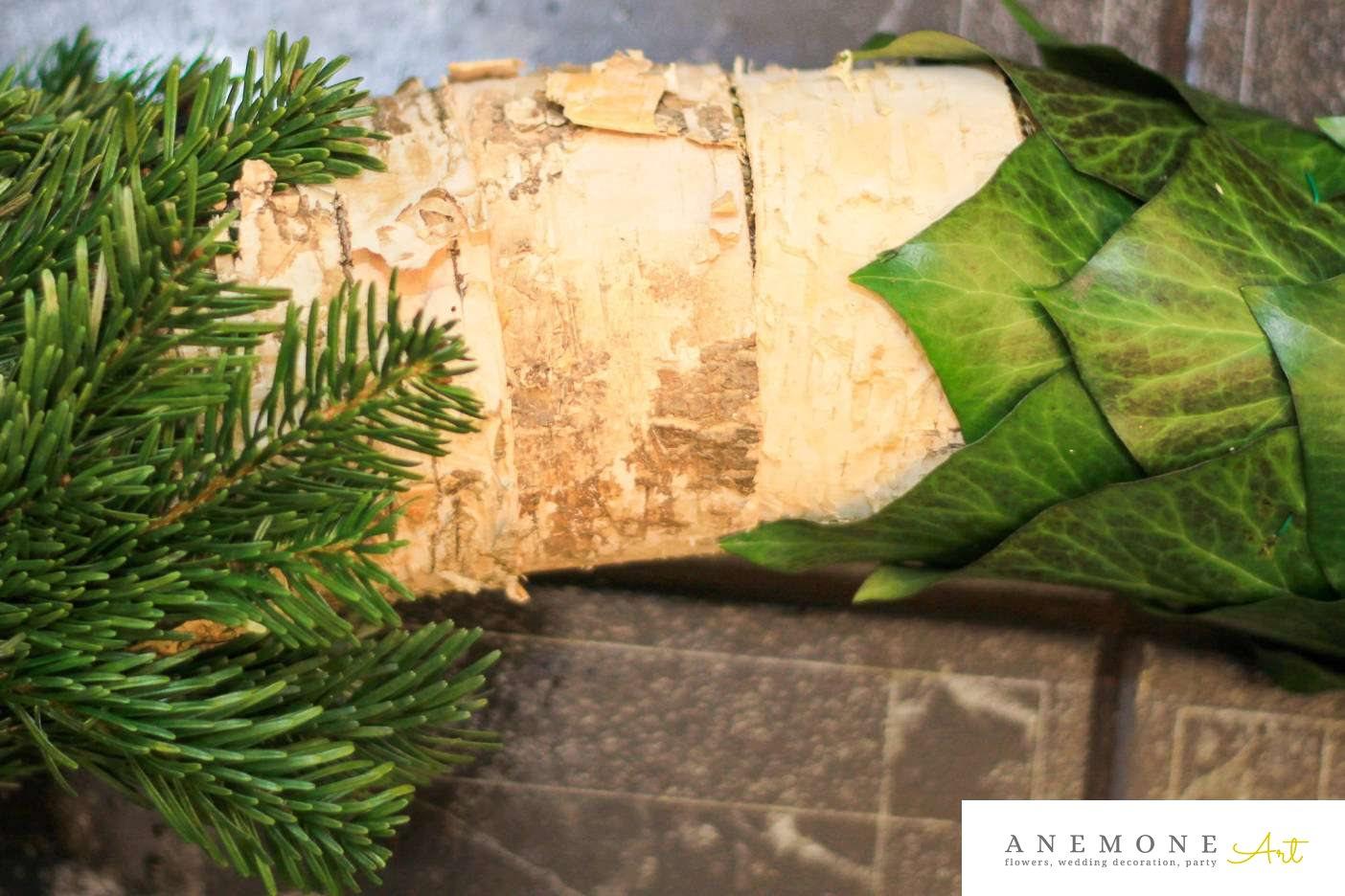 Poza, foto cu Flori de nunta brad, coroana funerara, iedera in Arad, Timisoara, Oradea (wedding flowers, bouquets) nunta Arad, Timisoara, Oradea