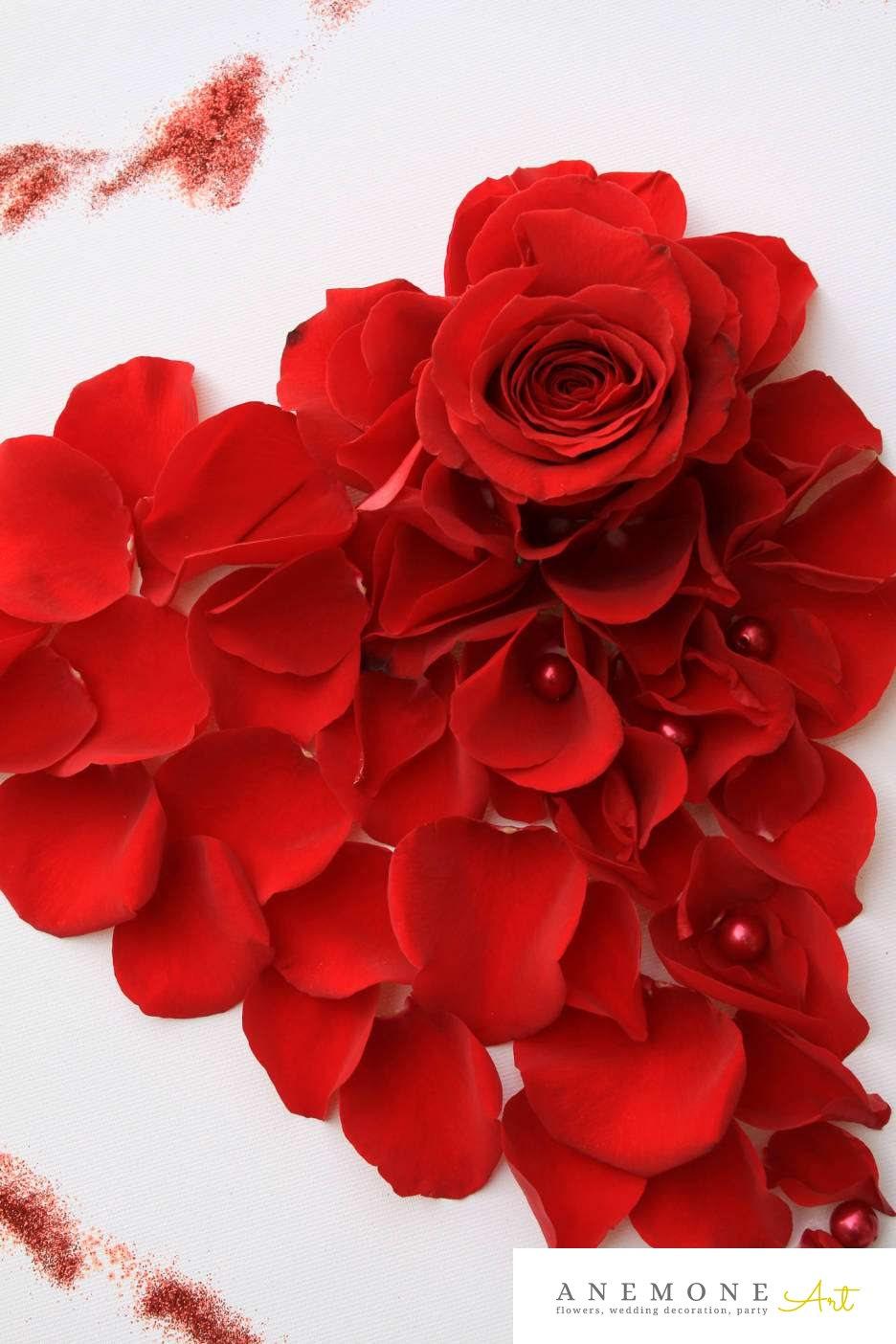 Poza, foto cu Flori de nunta inima, petale in Arad, Timisoara, Oradea (wedding flowers, bouquets) nunta Arad, Timisoara, Oradea