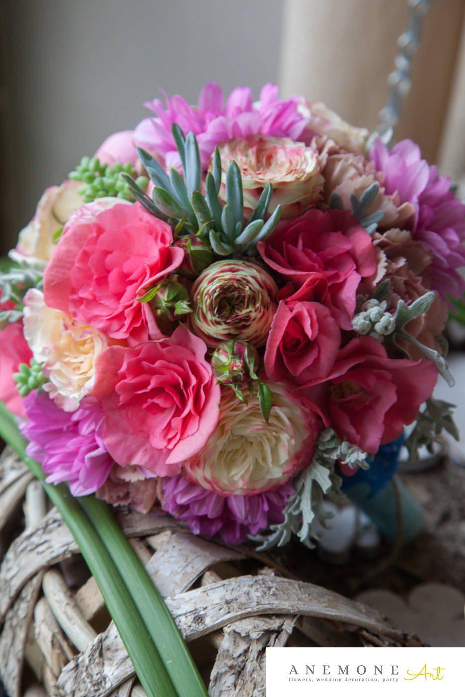 Poza, foto cu Flori de nunta buchet mireasa, bujori, hortensia, multicolor, rotund, trandafiri englezesti in Arad, Timisoara, Oradea (wedding flowers, bouquets) nunta Arad, Timisoara, Oradea