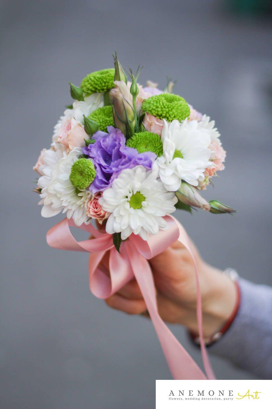 Poza, foto cu Flori de nunta buchet domnisoara, lisianthus in Arad, Timisoara, Oradea (wedding flowers, bouquets) nunta Arad, Timisoara, Oradea