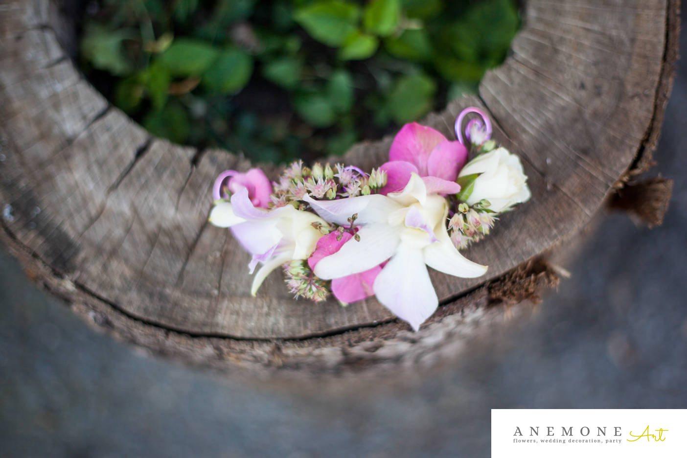 Poza, foto cu Flori de nunta alb, aranjament par, frezii, mini-rosa, roz, sebum in Arad, Timisoara, Oradea (wedding flowers, bouquets) nunta Arad, Timisoara, Oradea