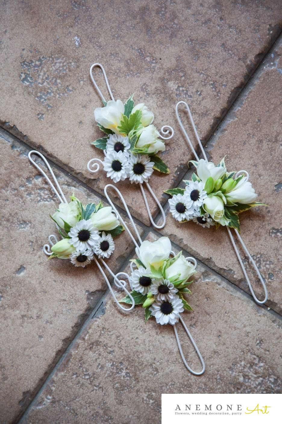 Poza, foto cu Flori de nunta alb, bratara, frezii, mini-gerbera in Arad, Timisoara, Oradea (wedding flowers, bouquets) nunta Arad, Timisoara, Oradea