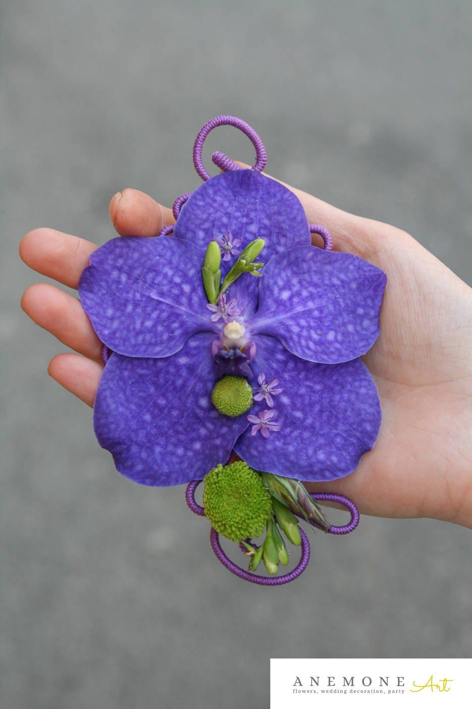 Poza, foto cu Flori de nunta albastru, cocarda, crizanteme, orhidee in Arad, Timisoara, Oradea (wedding flowers, bouquets) nunta Arad, Timisoara, Oradea