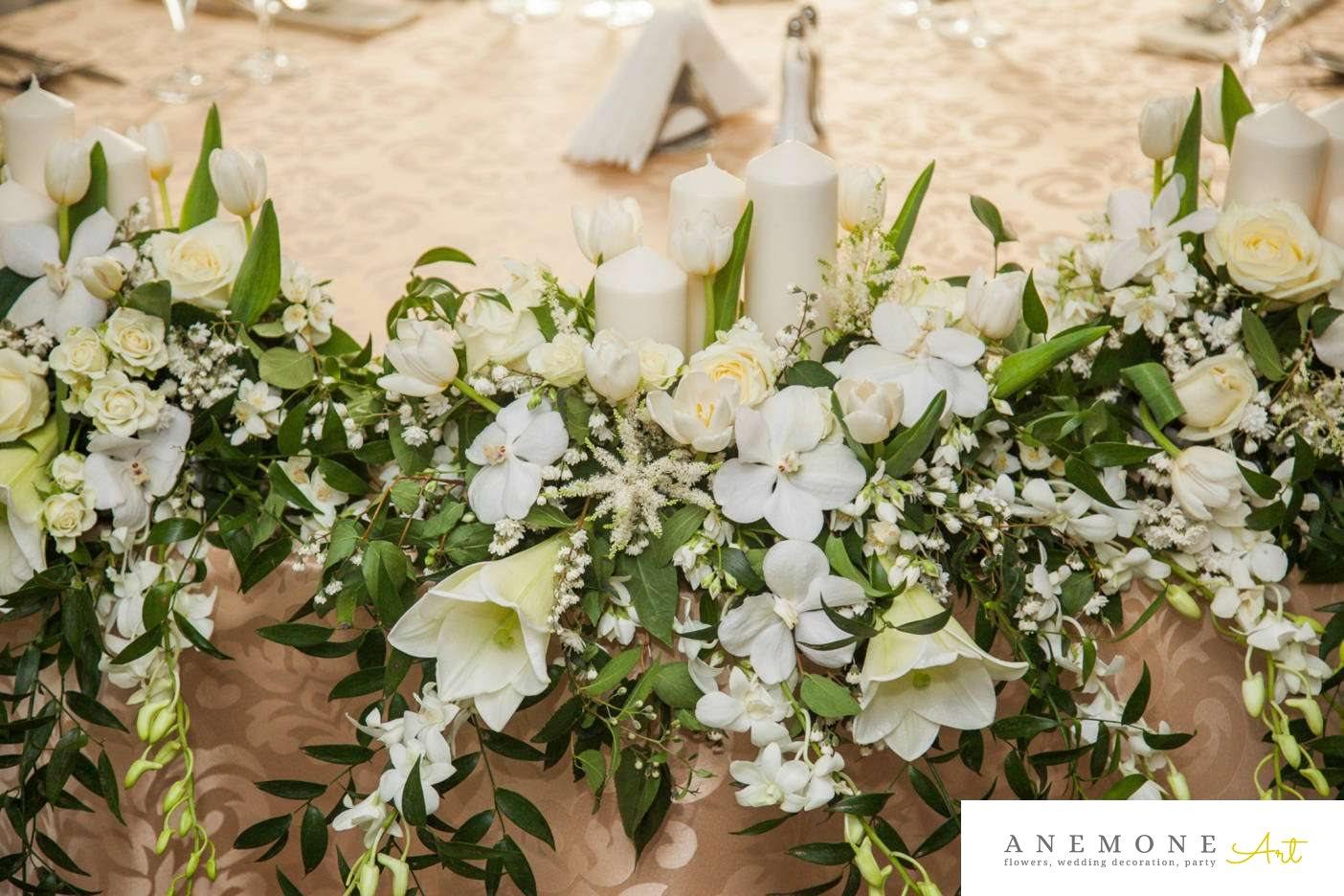 Poza, foto cu Flori de nunta hotel continental, lalele, orhidee, prezidiu in Arad, Timisoara, Oradea (wedding flowers, bouquets) nunta Arad, Timisoara, Oradea