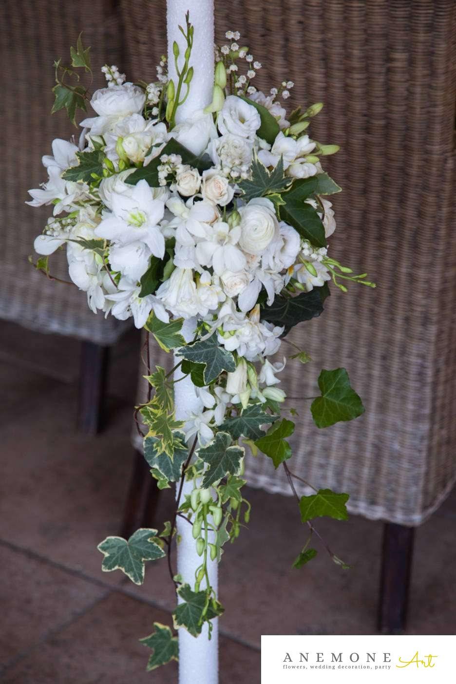 Poza, foto cu Flori de nunta lisianthus, lumanare cununie, orhidee in Arad, Timisoara, Oradea (wedding flowers, bouquets) nunta Arad, Timisoara, Oradea