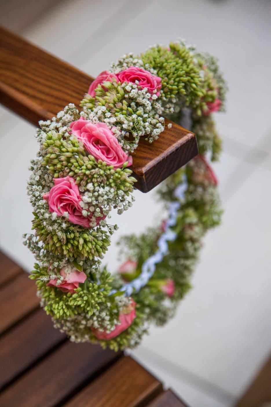 Poza, foto cu Flori de nunta coronita in Arad, Timisoara, Oradea (wedding flowers, bouquets) nunta Arad, Timisoara, Oradea