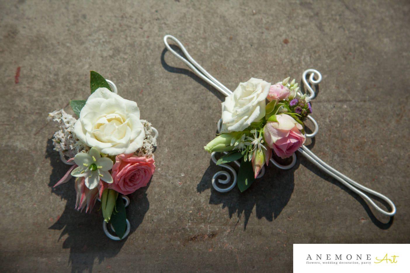 Poza, foto cu Flori de nunta bratara, cocarda in Arad, Timisoara, Oradea (wedding flowers, bouquets) nunta Arad