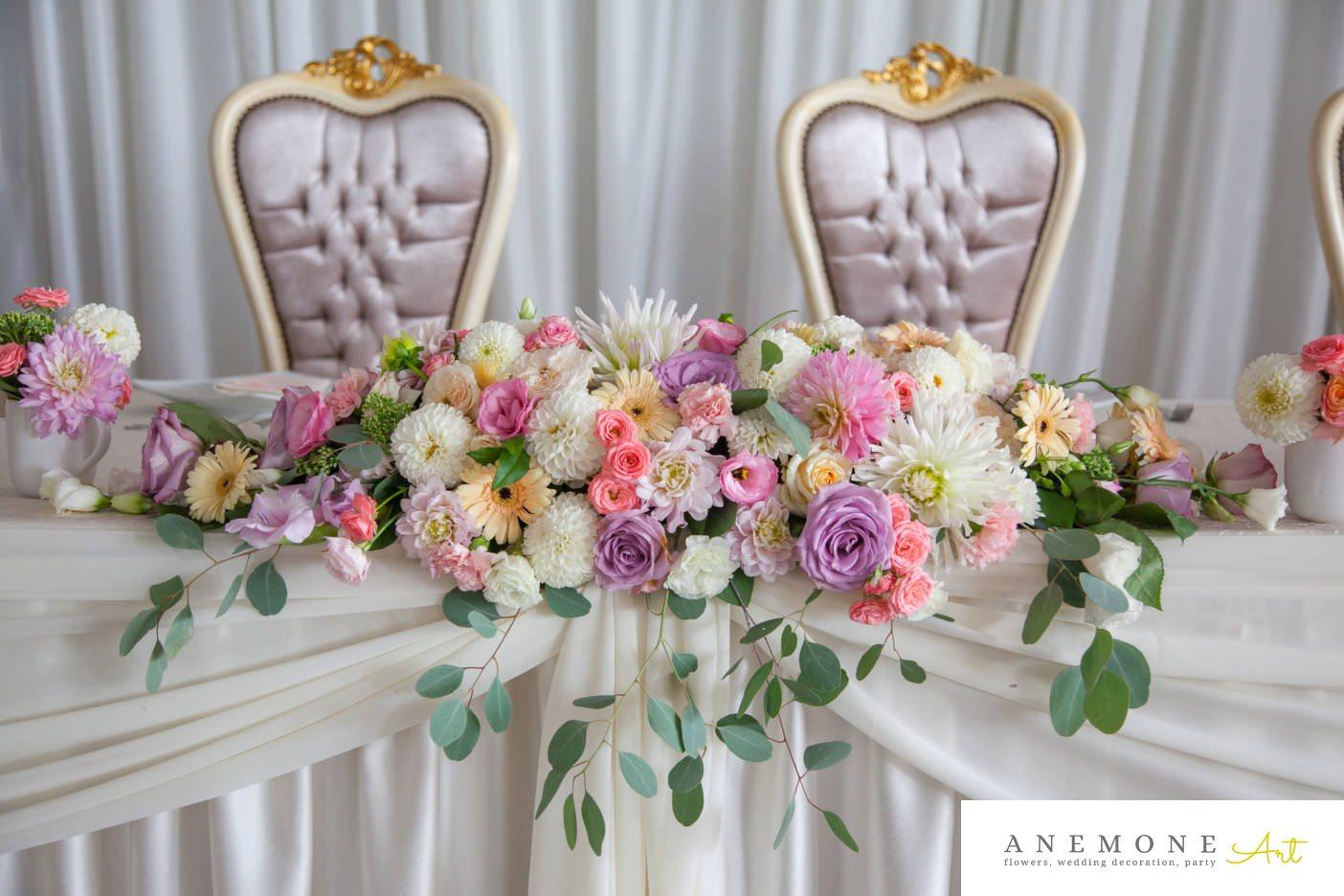 Poza, foto cu Flori de nunta prezidiu, tabiet events arad in Arad, Timisoara, Oradea (wedding flowers, bouquets) nunta Arad, Timisoara, Oradea