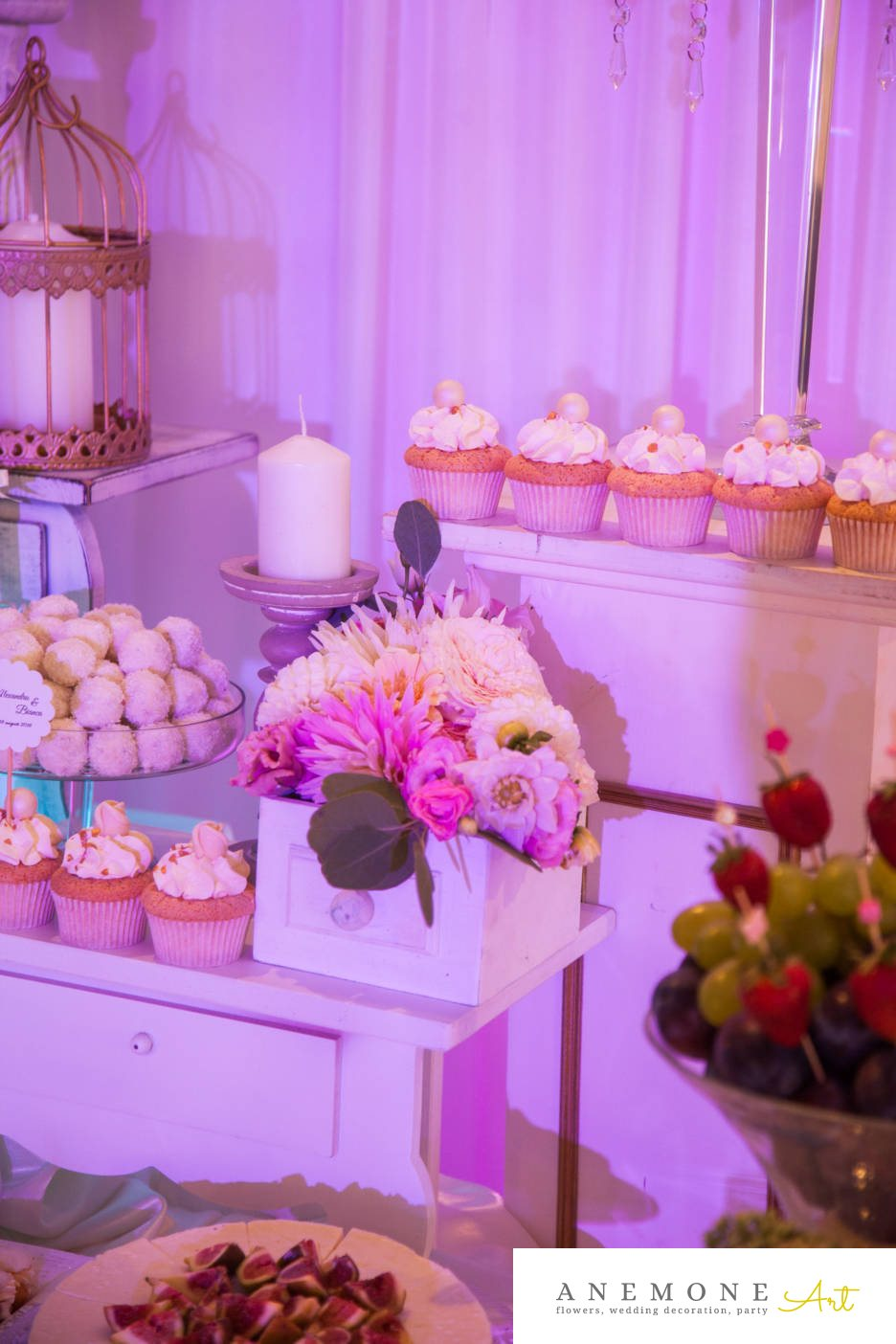 Poza, foto cu Flori de nunta decor candy bar, tabiet events arad in Arad, Timisoara, Oradea (wedding flowers, bouquets) nunta Arad