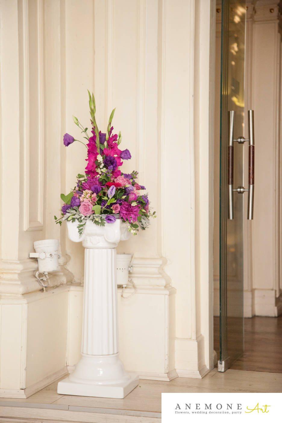 Poza, foto cu Flori de nunta decor intrare, decor sala, vila carol in Arad, Timisoara, Oradea (wedding flowers, bouquets) nunta Arad