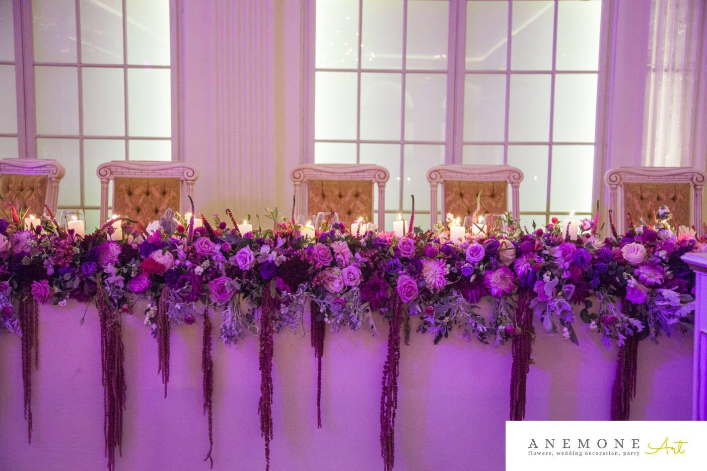 Poza, foto cu Flori de nunta prezidiu, vila carol in Arad, Timisoara, Oradea (wedding flowers, bouquets) nunta Arad